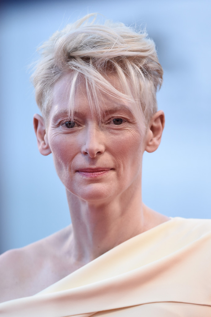 Tilda Swinton Messy Cut  Short Hairstyles Lookbook