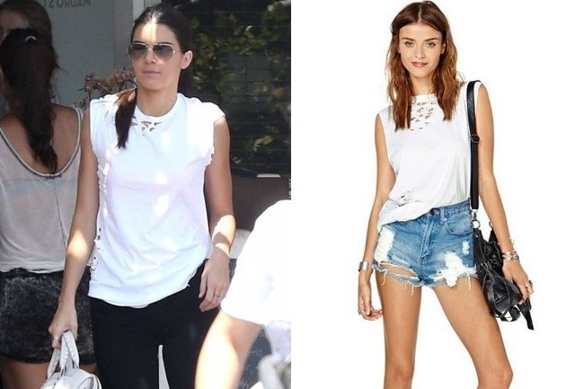 Kendall Jenner in Nasty Gal Tee