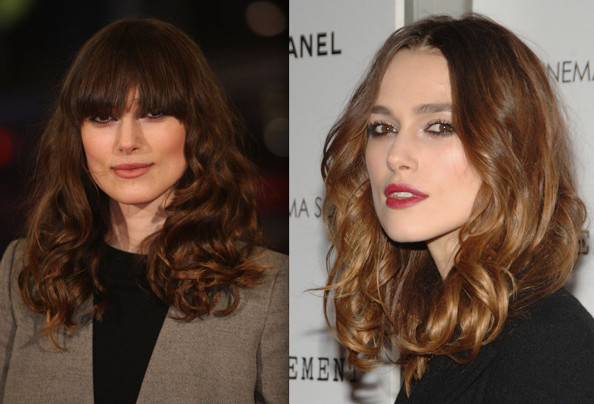 Keira Knightley Fancy Fringe Celebrities With Bangs