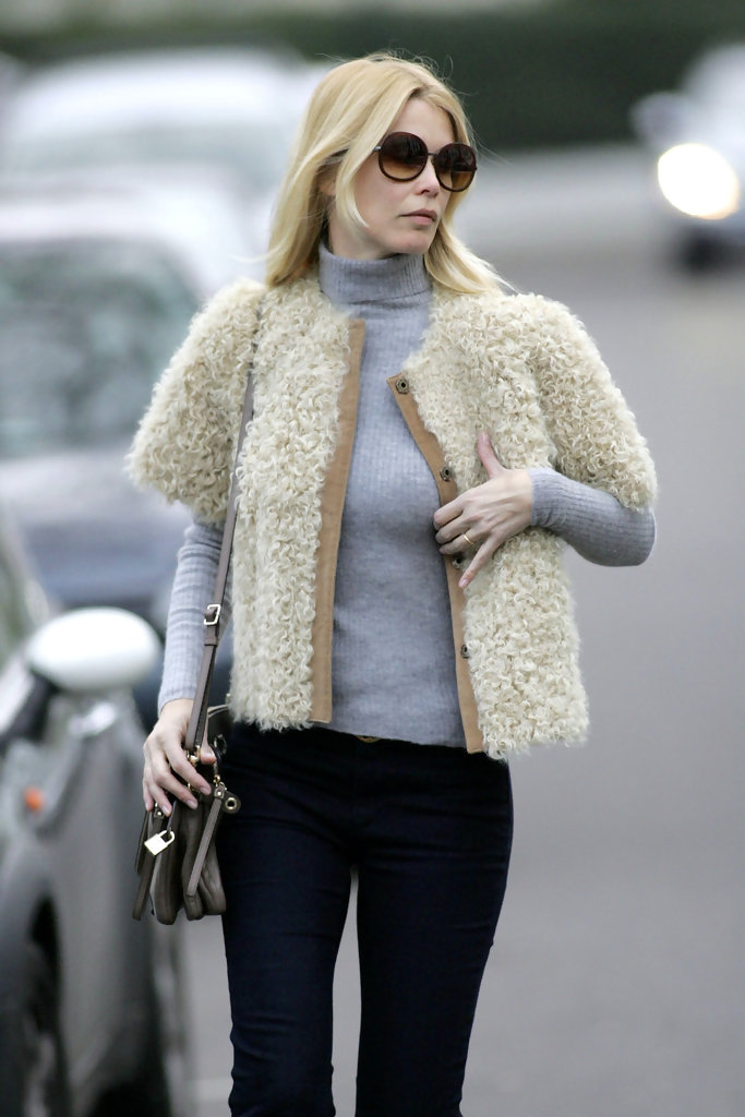 Claudia Schiffer Cropped Jacket  Claudia Schiffer Looks