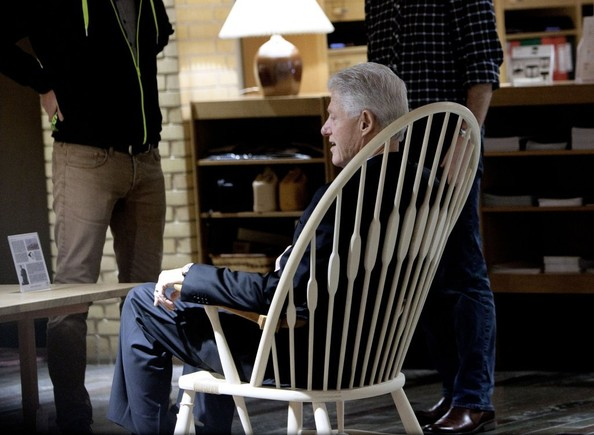 Bill Clinton - Bill Clinton Goes Christmas Shopping In Denmark