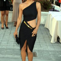 Teach Us Halle, TEACH US!!! Halle Berry Re-defines LBD in a Cut-Out Midi