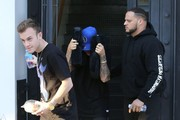 Singer Justin Bieber hides his face as he leaves the Nine Zero One Salon in West Hollywood, California on January 27, 2015. Justin used two pillows to hide his face. It's official he is now the biggest Diva in the entertainment world.