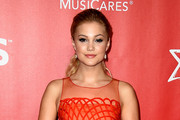 Actress Olivia Holt attends the 25th anniversary MusiCares 2015 Person Of The Year Gala honoring Bob Dylan at the Los Angeles Convention Center on February 6, 2015 in Los Angeles, California. The annual benefit raises critical funds for MusiCares' Emergency Financial Assistance and Addiction Recovery programs.