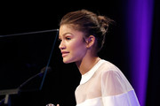 Actress/singer Zendaya accepts the Young Luminary Award onstage at the 2nd Annual unite4:humanity presented by ALCATEL ONETOUCH at the Beverly Hilton Hotel on February 19, 2015 in Los Angeles, California.