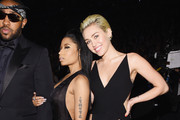 (L-R) Music Producer Mike Will Made It and recording artists Nicki Minaj and Miley Cyrus attend The 57th Annual GRAMMY Awards at the STAPLES Center on February 8, 2015 in Los Angeles, California.