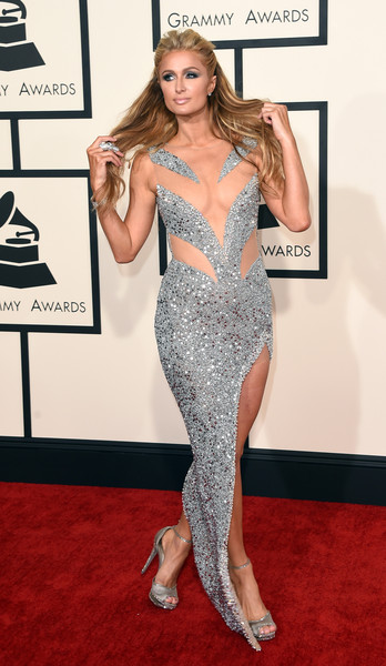 Paris Hilton attends The 57th Annual GRAMMY Awards at the STAPLES Center on February 8, 2015 in Los Angeles, California.