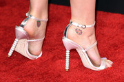 Singer Katy Perry (fashion detail) attends The 57th Annual GRAMMY Awards at the STAPLES Center on February 8, 2015 in Los Angeles, California.