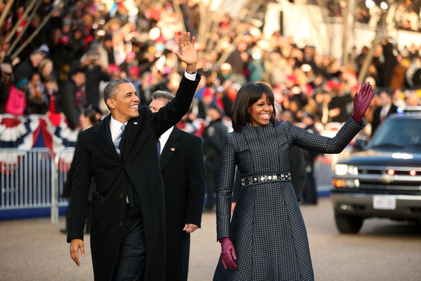 Barack Obama - Inaugural Parade Held After Swearing In Ceremony