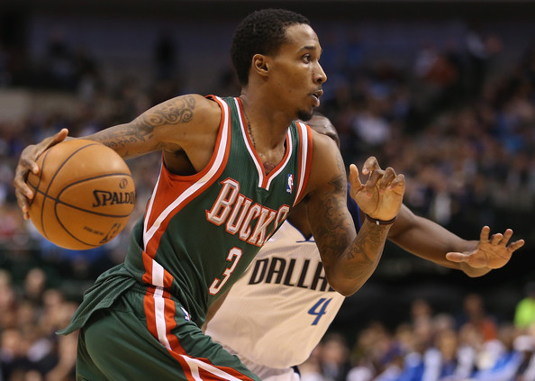 Brandon Jennings - Milwaukee Bucks v Dallas Mavericks