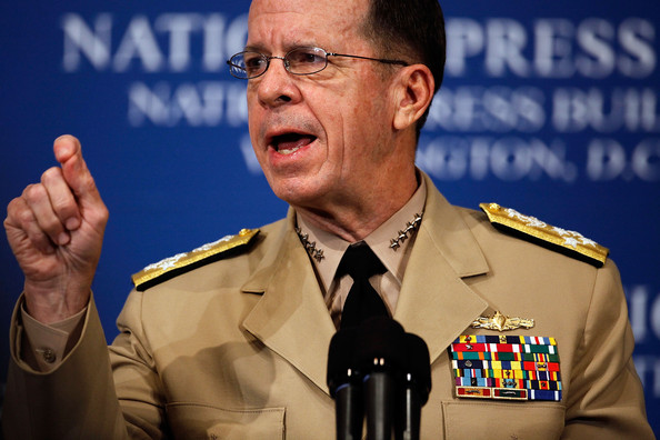 Mike Mullen Chairman of the Joint Chiefs of Staff Admiral Mike Mullen delivers remarks during a National Press Club Newsmaker Luncheon July 8, 2009 in Washington, DC. Mullen was asked about the changing mission in Afghanistan, about recent cyber attacks on government Web sites and other defense subjects.
