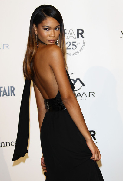 Chanel Iman Model Chanel Iman attends amfAR MILANO 2011 at La Permanente on September 23, 2011 in Milan, Italy.