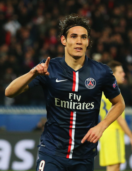 Edinson Cavani - Paris Saint-Germain v Chelsea - UEFA Champions League Round of 16