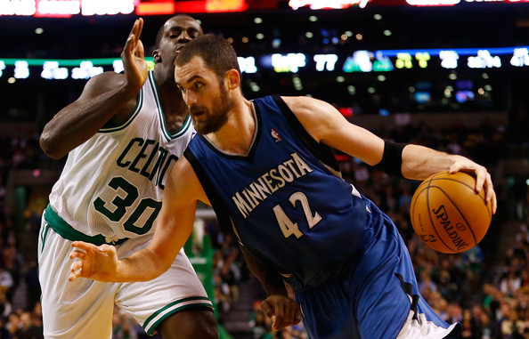 Kevin Love - Minnesota Timberwolves v Boston Celtics