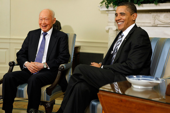 Lee Kuan Yew - Obama Meets With Minister Mentor Of Singapore