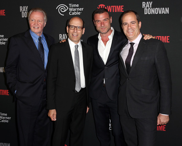Liev Schreiber (L-R) Actor Jon Voight, Matthew C. Blank, Chairman/CEO/Showtime Networks, actor Liev Schreiber, and David Nevins, President of Entertainment/Showtime Networks, attend Showtime's new series premiere of 'Ray Donovan' at the Directors Guild of America on June 25, 2013 in Los Angeles, California.