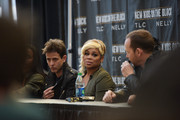 (L-R)  Joey Mcintyre, T-Boz and Donnie Wahlberg attend the New Kids On The Block Press Conference at Madison Square Garden on January 20, 2015 in New York City.
