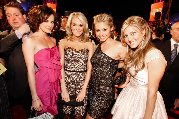People's Choice Awards 2010 - Red Carpet. In This Photo: Carrie Underwood,