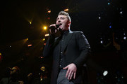 Singer Sam Smith performs onstage at the Q102's Jingle Ball 2014 at Wells Fargo Center on December 10, 2014 in Philadelphia, Pennsylvania.