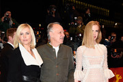 (L-R) Lena Herzog, director Werner Herzog and actress Nicole Kidman attend the 'Queen of the Desert' premiere during the 65th Berlinale International Film Festival at Berlinale Palace on February 6, 2015 in Berlin, Germany.