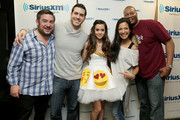 (L-R) Ryan Sampson, Rich Davis, Megan Nicole, Nicole Ryan and Stanley T attend Hits 1's The Morning Mash Up Broadcast from the SiriusXM Studios on February 11, 2015 in Los Angeles, California.