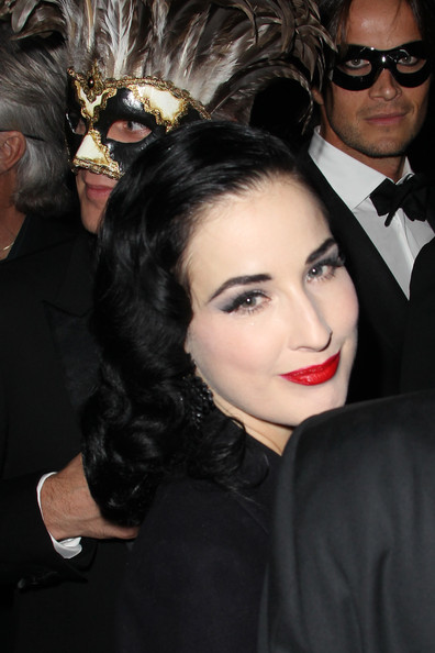 Dita Von Teese attends Vogue 90th Anniversary Party at Hotel Pozzo di Borgo on September 30, 2010 in Paris, France.