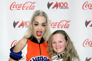Rita Ora meets fans at Z100 & Coca-Cola All Access Lounge at Z100's Jingle Ball 2014 pre-show at Hammerstein Ballroom on December 12, 2014 in New York City.