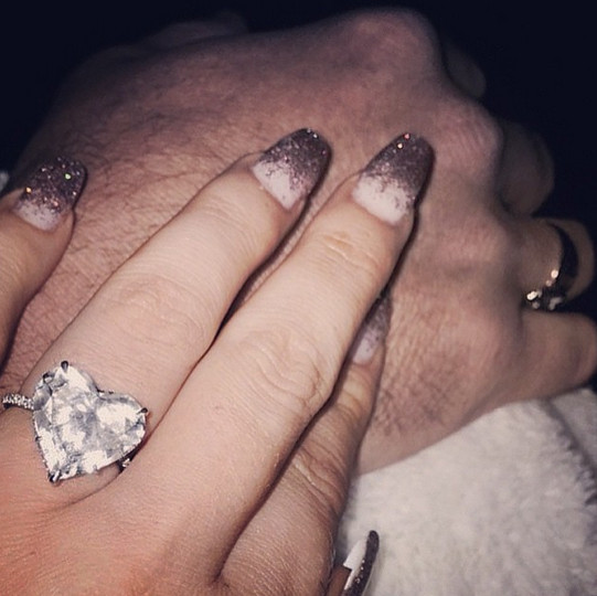 See Nicki Minajs Huge HeartShaped Engagement Ring