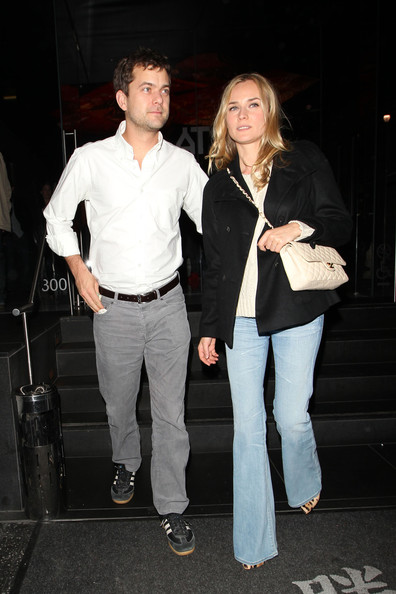 Diane Kruger Diane Kruger and long-term boyfriend Joshua Jackson are centre of attention as they leave West Hollywood's Katsuya restaurant. German actress Diane was wearing a simple gold band on her left hand ring finger.