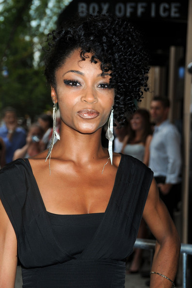 "Yaya DaCosta Yaya Dacosta at the Village East cinema for the New York premiere for the movie ""The Extra Man""."