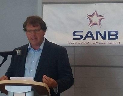 Éric Forgues, chercheur à l'Institut canadien de recherche sur les minorités linguistiques, et co-auteur de la consultation. (Photo: SANB)