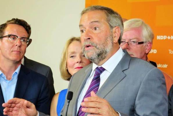 Le chef sortant du NPD, Thomas Mulcair. archives