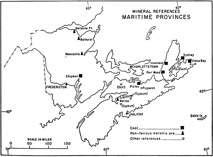 Mineral references in the maritime provinces, 1967