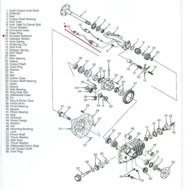 A Wiring Diagram For The 4X4, To Control The Front Dif