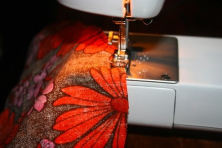 Got a chance to use a sewing machine