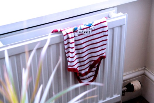 Daddy baby grow hanging to dry