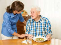 Caregiver with Elderly Person