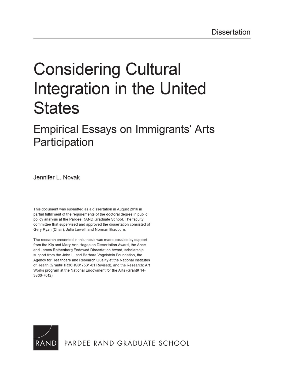 Immigrant Essay Considering Cultural Integration In The United