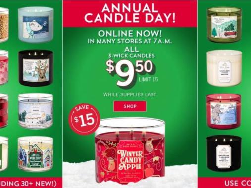 Image result for bath and body works candle sale