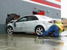 Car into AutoZone