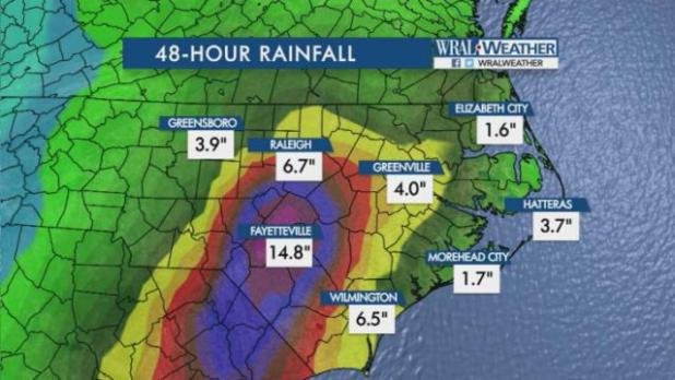 Latest: Raleigh police: The city is under water - Wake