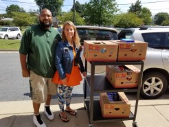 Glen Haven receives a CFR donation from Manna Food Center