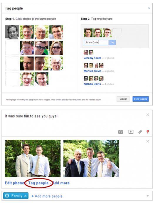 Google Plus lanza una forma mucho más sencilla de etiquetar fotos de personas