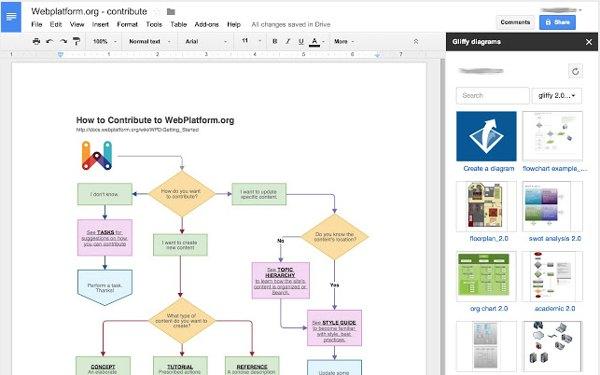 Gliffy diagramas google drive