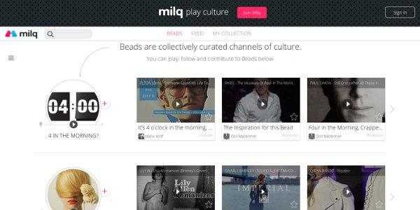 milq organizar contenido internet