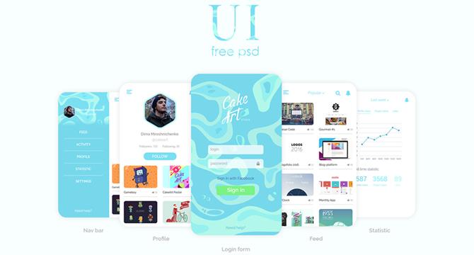 Colección De Interfaces De Usuario Para Móviles