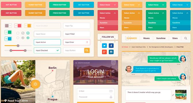 Summer UI: Kit De Interfaz De Usuario Colorida Para Web