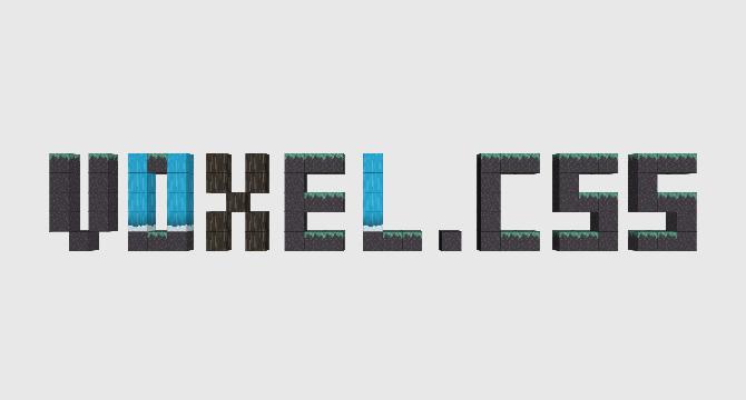 Voxel.css: Libreria De Animacion 3D De Voxeles En CSS