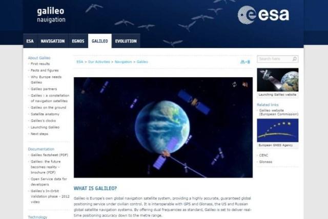 Imagen: Sitio wéb oficial de Galileo (ESA)