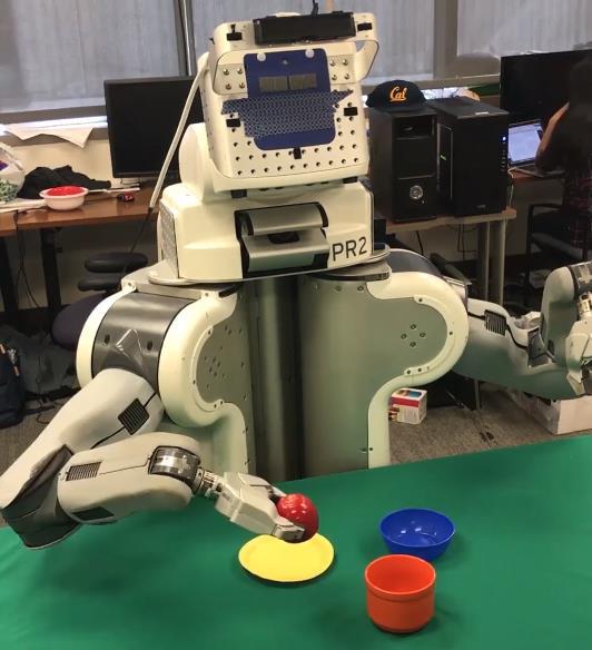 Robot trabajando con objetos que no había visto nunca.